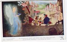 Pinocchio Blue Fairy (B) Walt Disney unused old pc 1940 Valentines 472
