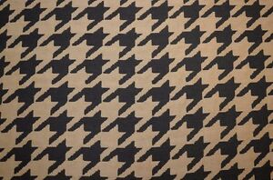 Large Houndstooth Black Upholstery Fabric Ebay