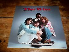 """THE WHO ( WHO'S BETTER, WHO'S BEST ) 2 SIDE 12"""" 25th Anniversary PROMO POSTER NM"""