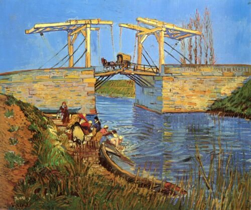 Paintings Drawbridge near Arles Fine Art Print Van Gogh 1888