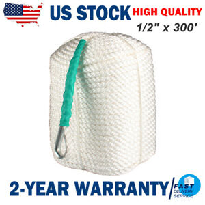 """1//2/""""x300/' Twisted 3 Strand Nylon Rope WITH Thimble"""