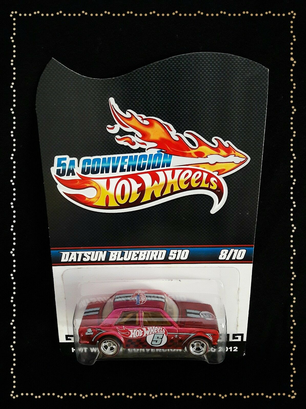 Hot Wheels 2012 2012 2012 Mexico Convention Datsun 510 Pink Chrome 8155f7