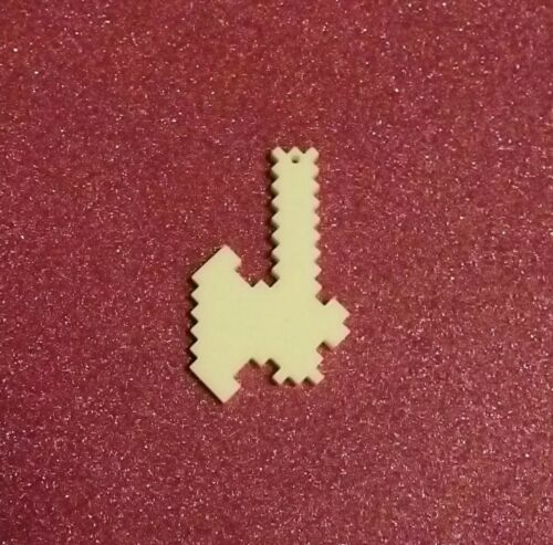 5x pixel axe gamer acrylic charm//pendants//jewellery making//craft/'s//laser cut