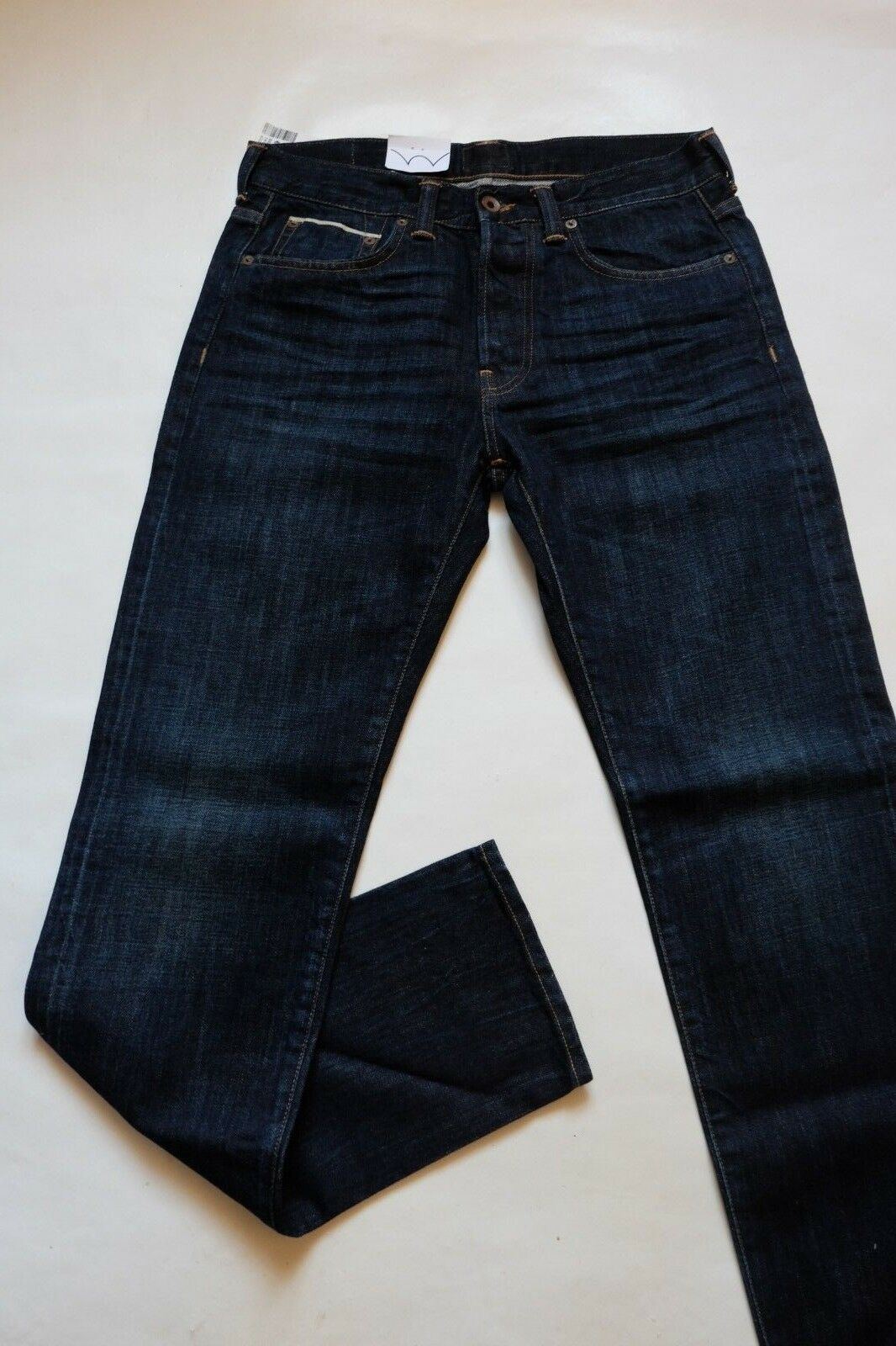 JEANS EDWIN  ED 80 X WHISTLES (white listed- burner wash)  W34  L32 VAL
