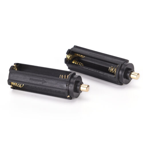 2PCS Plastical Battery Holder Box Case 3 AAA To 18650 Battery Converter FH