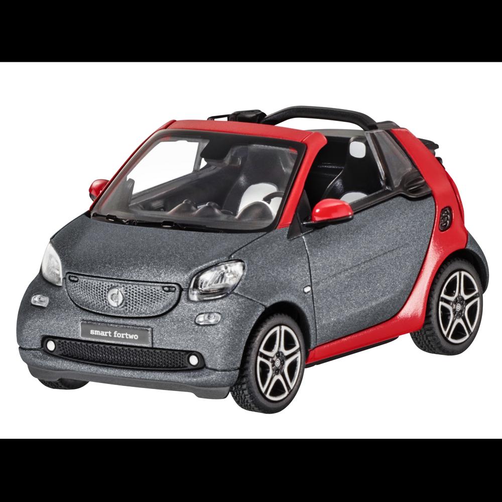 Smart Modellauto PKW PKW PKW 1 43  fortwo cabrio A453 titan grey matt red  B66960286 4c18ca