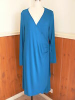 Xl Ripe Maternity Gia Wrap Blue Dress Stretch Formal Evening Work Wear Smart