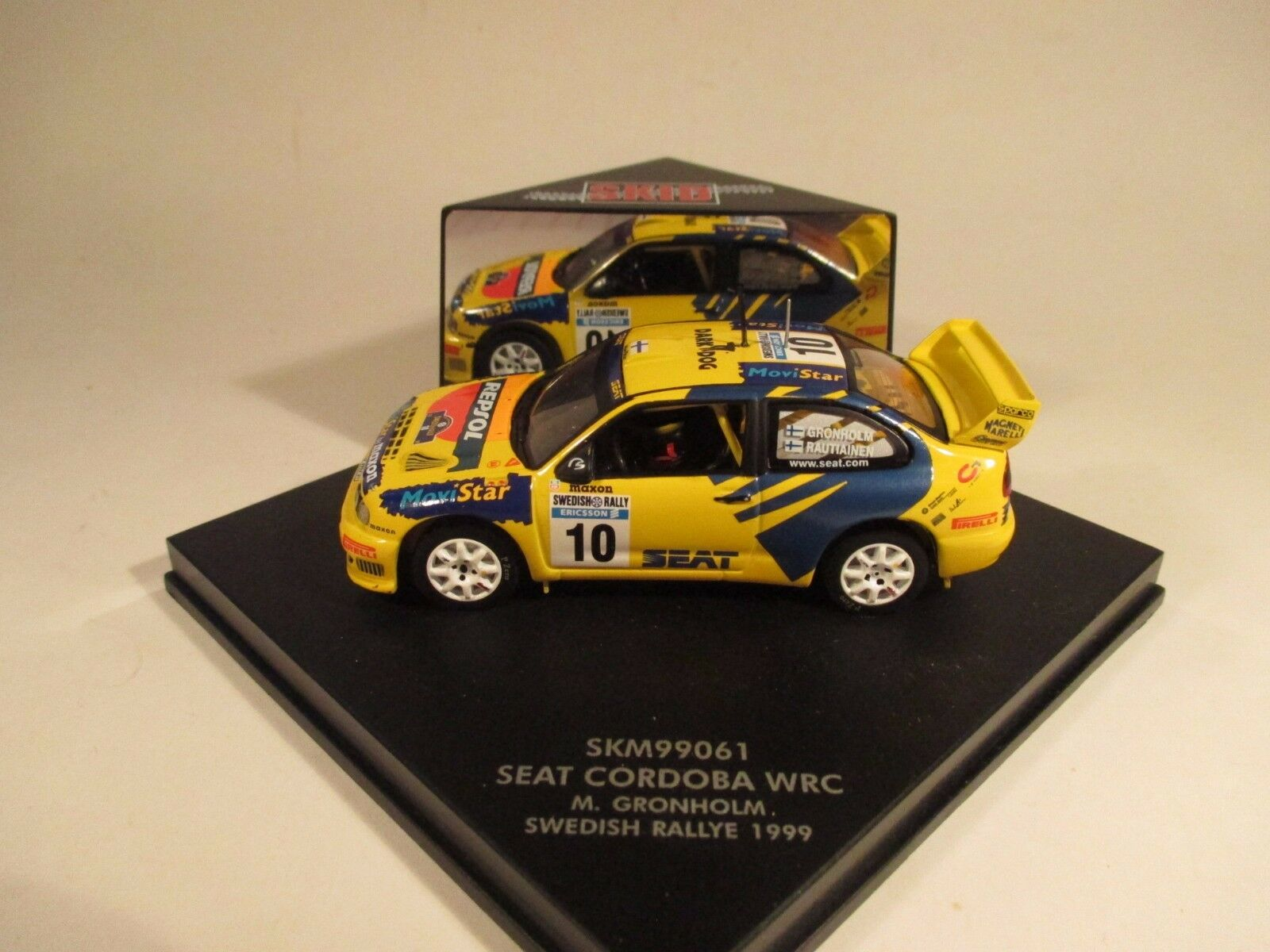 Skid SKM99061 SEAT CORDOBA WRC sueco 1999 1 43 Menta en caja