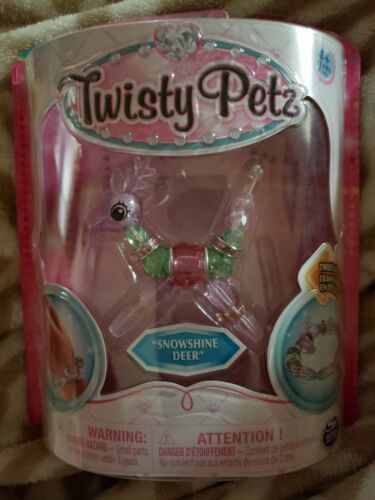 Tordu PETZ Pets super rare snowshine Deer Transformer Pet pour bracelet new in box