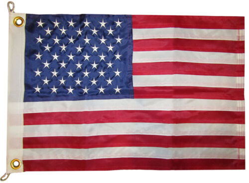"16x24 USA 50 Star 16/""x24/"" Nylon Embroidered Sewn 300D Flag Grommets RUF"