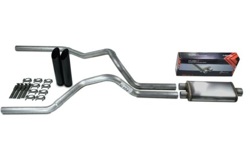 """Ford F-150 Truck 04-14 2.5/"""" Dual Exhaust Flow II Stainless Muffler Black Tip"""