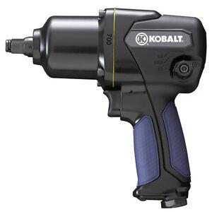 Kobalt Mechanics 1/2-in Drive 700 ft-lbs High Power Air Impact Wrench Tool Gun