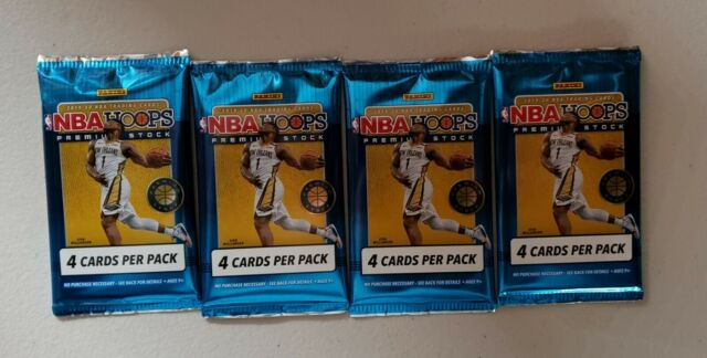 🔥🏀2019-20 NBA HOOPS Premium Stock (4) 4 card packs from a Blaster Boxl🔥