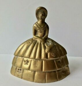 CLOCHETTE-DE-TABLE-EN-BRONZE-XIX-eme-DAME-EN-CRINOLINE-Victorian-table-bell