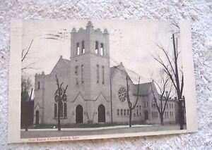 POSTCARD FIRST BAPTIST CHURCH KEOKUK IOWA 1909