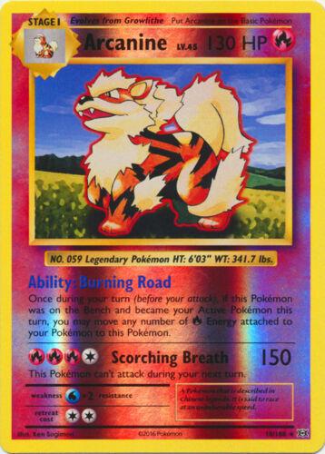 Rare Evolutions 1x Arcanine 18//108 Reverse Holo NM-Mint Pokemon XY