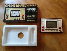 **MANHOLE** NINTENDO 1981 GAME & WATCH - GOLD MH -06  boxed!!