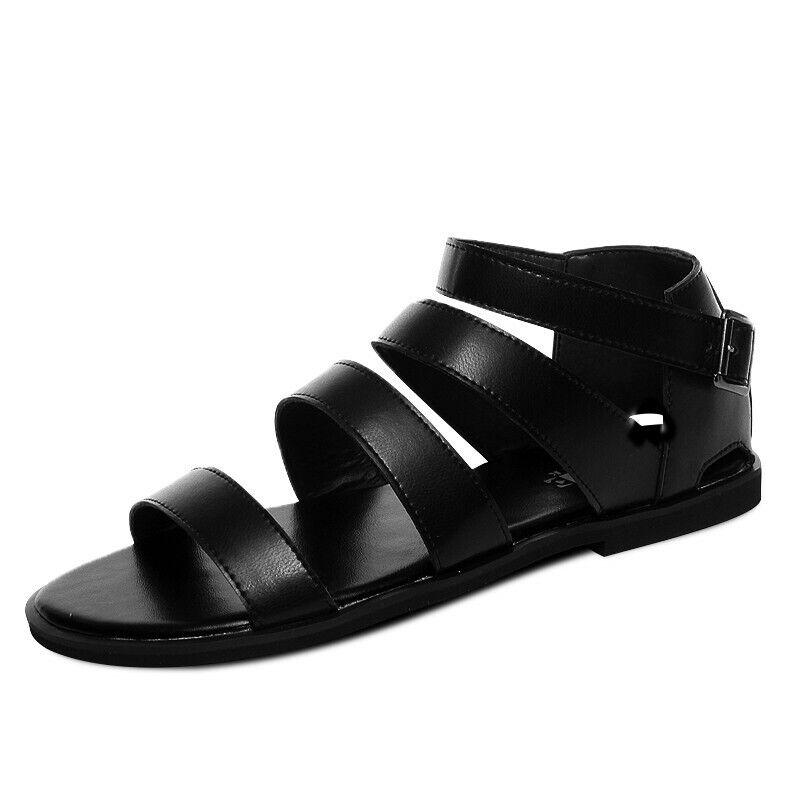 Para Hombre Puntera abierta recortar Transpirable slipproof Romano Gladiador Zapatos Sandalias De Playa