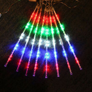 image is loading falling rain christmas lights chic waterproof 8led meteor