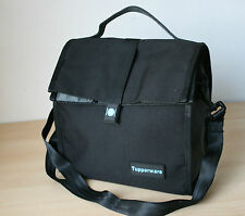 Tupperware Insulates Lunch Bag w/Shoulder Strap Black  New