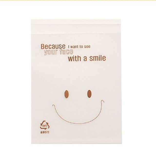 peel N seal smiling face cello cookie candy treat bags party birthday xmas