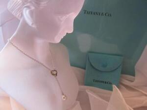 bcdd01ee6 Tiffany & Co. Elsa Peretti Open Heart Pearl Lariat Sterling Silver ...