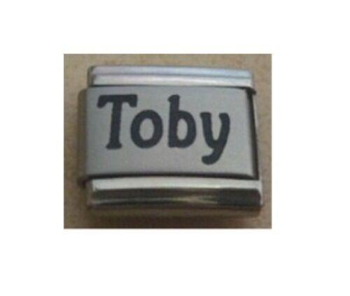 9mm Tamaño Clásico Italiano Charms Encanto nombres-nombre Toby