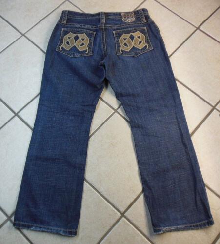 32 da Boot Jeans uomo Loose Jeans denim blake blu Inseam Express 34 Euc Misura qOaww8