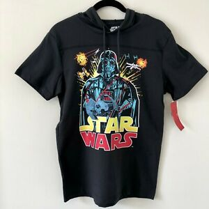 STAR-WARS-Vintage-Retro-Hoodie-Shirt-DARK-VADER-MEN-039-S-SIZE-SMALL-New