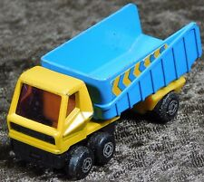 VTG 1973 LESNEY ENGLAND MATCHBOX SERIES NO 50 YELLOW BLUE ARTICULATED TRUCK