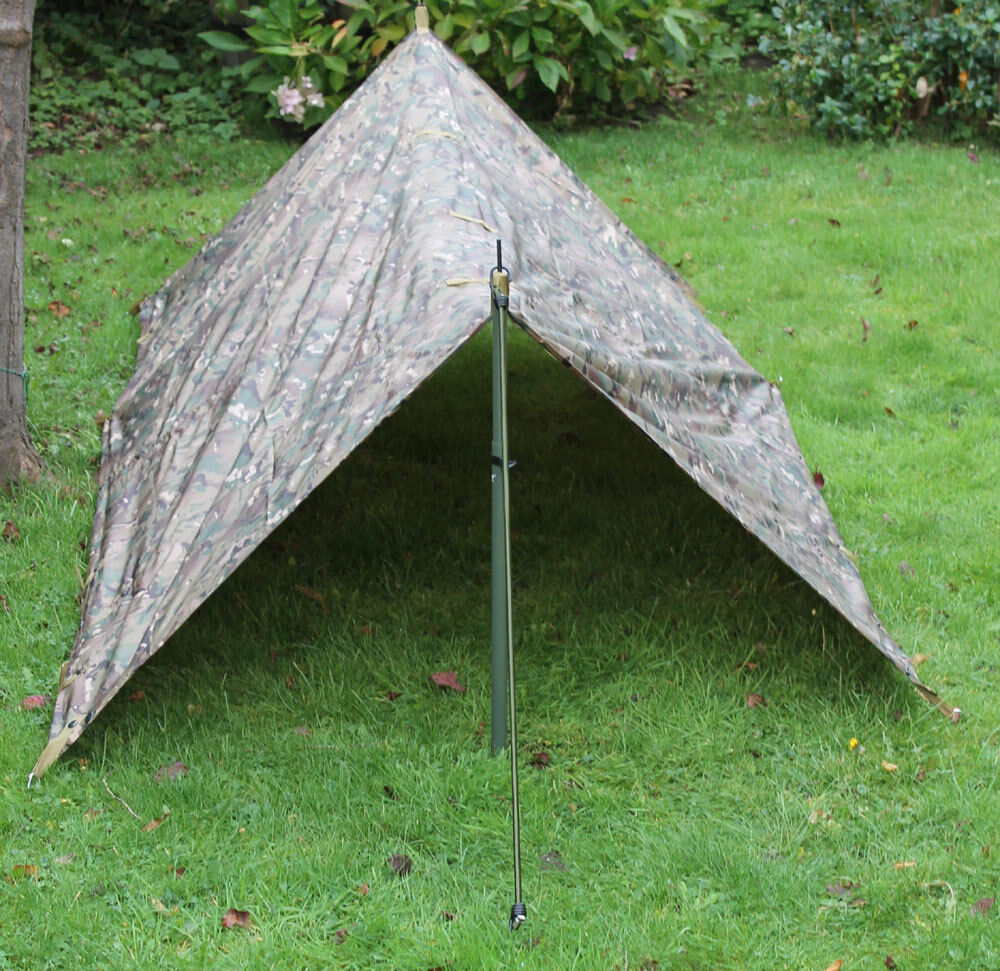 New MTP   Multicam Match Lightweight Basha   Bivi Shelter ( Tarp Poncho Military
