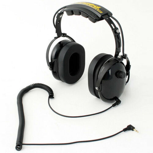 Rugged Radios H20-BLK Over the Head Listen Only Headset with 3.5mm Input Jack