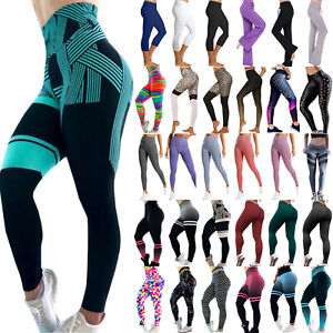 Women-High-Waist-Yoga-Pants-Leggings-Sports-Gym-Stretchy-Training-Tight-Trousers