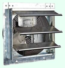 "Commercial Wall Mount Shutter Exhaust Fan 12"" Garage Workshop Barn Storage Shed"