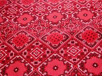 Red Bandana Fabric By Cosmo ,100% Cotton, By The Yard . Free Shipping