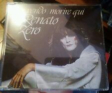 RENATO ZERO - MI VENDO / MORIRE QUI  - CD SINGOLO  PICTURE RARO