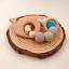 Baby Teether Teething Ring Wood Toys Beads Bracelet Log natural non-toxic