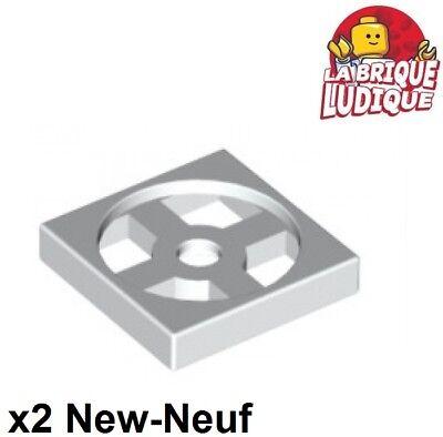 4x turnable plaque tournante base 2x2 bleu//blue 3680 3679 NEUF Lego