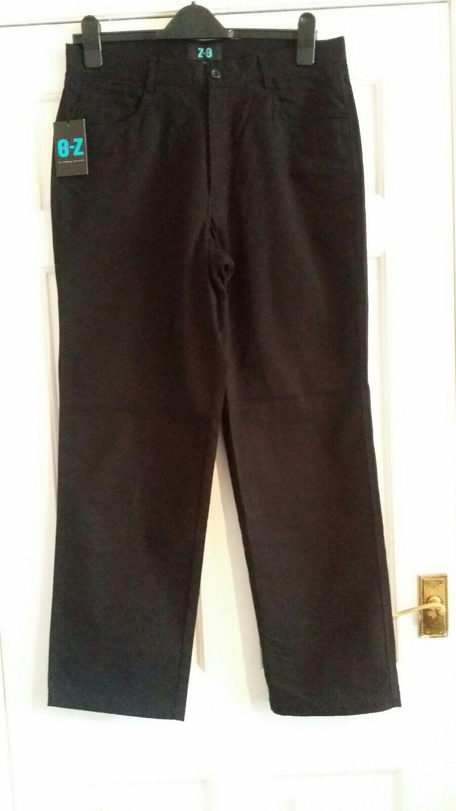 Homme O-Z O-Z O-Z Debenhams Noir Fermeture Éclair Pantalon Taille UK 34 S Bnwt 2791f3