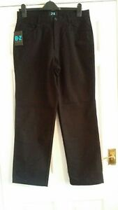 100% Vrai Homme O-z Debenhams Noir Fermeture Éclair Pantalon Taille Uk 34 S Bnwt