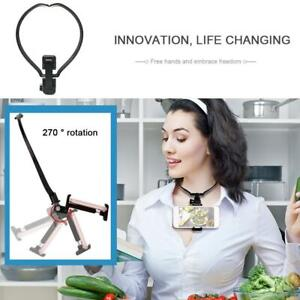 Black-ABS-Bracket-Mount-Stand-Phone-Holder-Hang-On-Neck-Action-Camera-Hands-Free