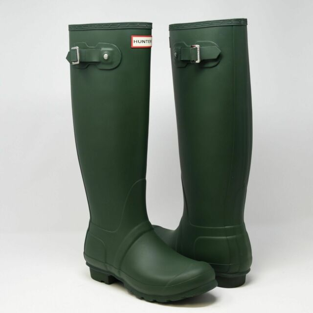 e92029a6c939 Hunter Original Tall Women US 6 Green Rain Boot UK 4 EU 37