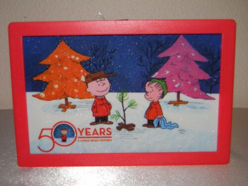 Mr. Christmas 2015 50 Years A Charlie Brown Christmas Shimmer Illuminart, Nice