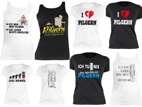 Weitere Sportarten Damen T-Shirt Pilgern Wandern Pilger Pilgerurlaub Damenshirt Jakobsweg Trägertop Bergsteigen & Klettern