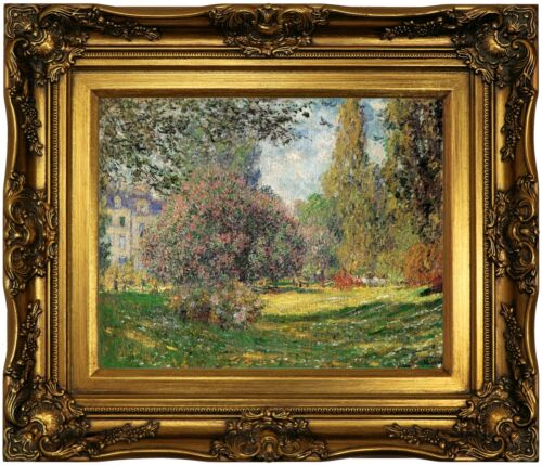 Monet The Park Wood Framed Canvas Print Repro 11x14
