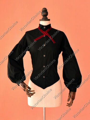 Victorian Edwardian Dickens Caroler Vintage Blouse Shirt Theater Top Wear B314