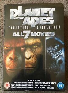 Planet-Of-The-Apes-Evolution-Collection-7-FILM-Boxset-DVD-2011-NEW-SEALED