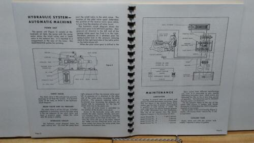 Heald 161 Rotary Grinder Instruction /& Parts Manual