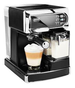 beem siebtr ger kaffee espressomaschine i joy caf latte 15bar schwarz chrom ebay. Black Bedroom Furniture Sets. Home Design Ideas