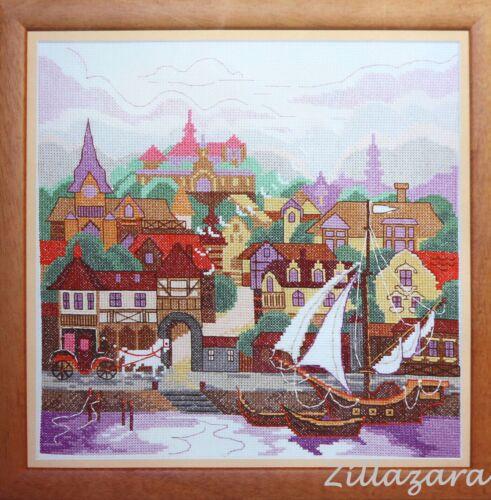 Segelboot Stadt Kreuzstichpackung Stickbild Gezählter Kreuzstich Bild sticken230